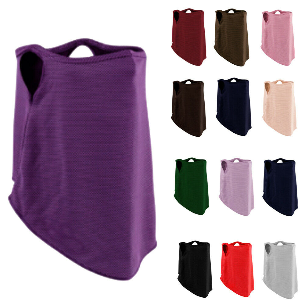 Half Face Mask Summer Windproof Dustproof Sunscreen Breathable Neck Scarf Men Women Outdoor Masks Beanie Head Covers Niqab Burqa