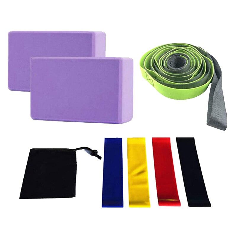 Equipamento de Yoga Banda para Casa Conjunto Loops Cinta Yoga Margarida Corrente Blocos Resistência Loop Ginásio Fitness Pilates 12 Mod. 344350