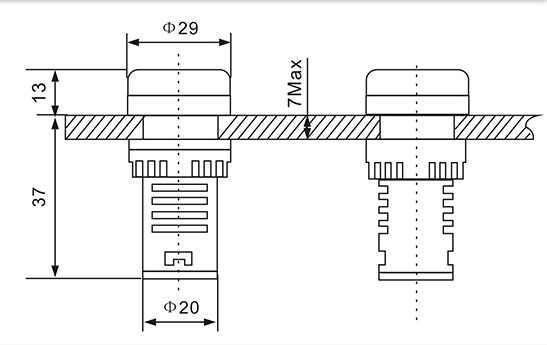 60 22MM AD16 AD16-22DSV Tipo AC-500 V Mini Medidor de Tensão LEVOU Display Digital AC Voltímetro Indicador de Luz /Lâmpada piloto 110V 220V