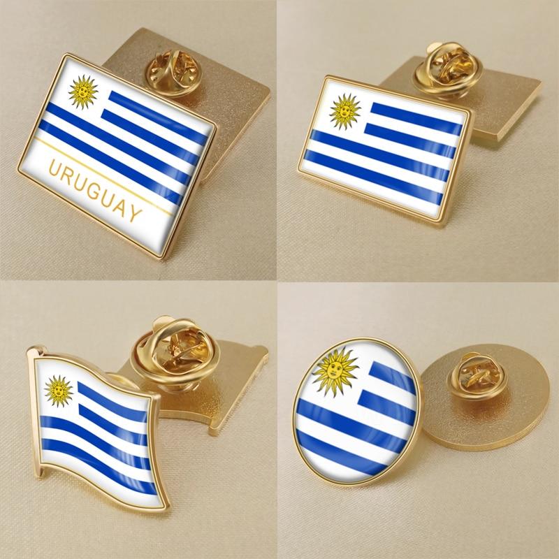 URUGUAY Uruguayan Country Metal Flag Lapel Pin Badge *NEW*