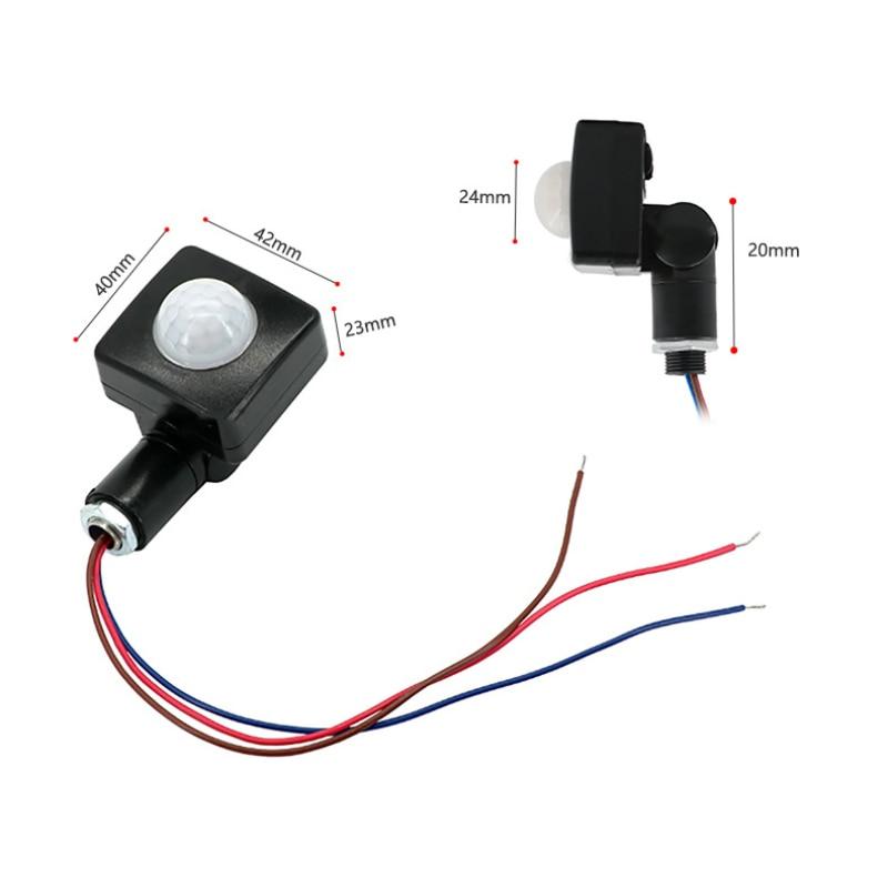 Nuevo Detector de Sensor de movimiento PIR Luz de inundación LED ultrafino resistente al agua al aire libre 85-265V IP65 Sensor de movimiento ajustable PIR interruptor
