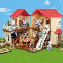 Семейная вилла 1:12 с лесным животным, мебель для кукол, игрушечный домик в лесу, мини-спальный набор, сделай сам, миниатюрный кукольный домик, мебель для детей
