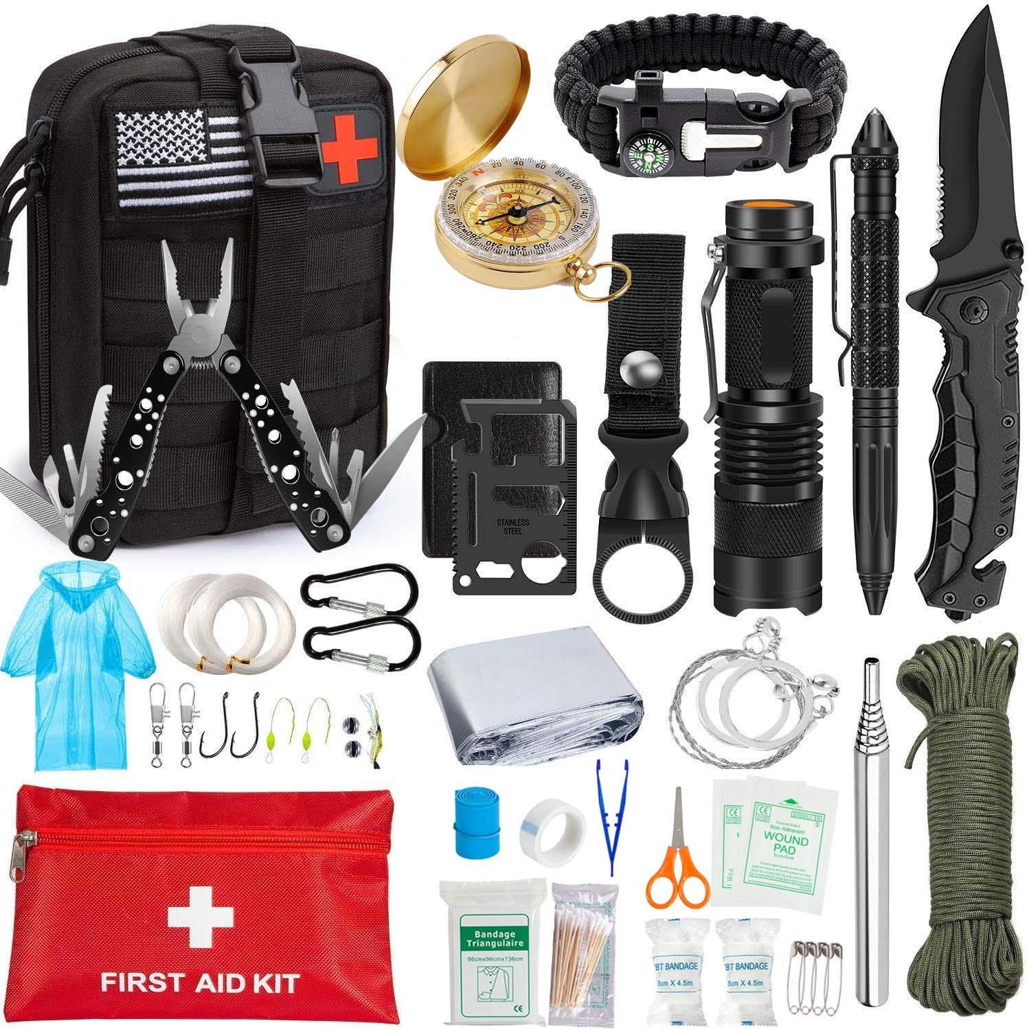 Survival First Aid Kit, Tactical Molle IFAK Pouch Emergency First Aid Survival Kits Camp Tool Trauma Bag Outdoor Gear