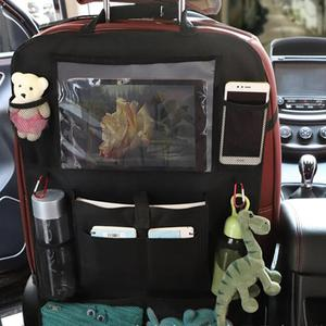 Image 2 - Car Backseat Organizer Kick Mats Seat Back Protectors with Clear Storage Pockets for Kids Toy Bottle Drink Vehicles Accessories