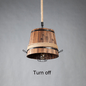 Image 5 - Mỹ Retro THÙNG GỖ đèn chùm đèn chùm thanh Câu Lạc Bộ cafe phòng ngủ ánh sáng sáng tạo trang trí cà phê nhà hàng Mặt dây chuyền đèn