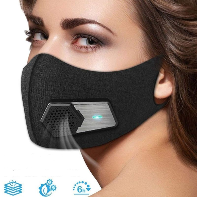 Intelligent Dust-proof Electric Mask Anti-Pollution Anti Dust Anti Fog Respirator Filter Gas Mask Air Breathing Purifier
