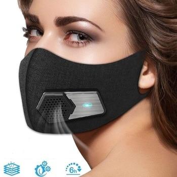 Intelligente Stofdicht Elektrische Masker Anti Dust Anti Fog Respirator Filter Gasmasker Lucht Ademen Luchtreiniger