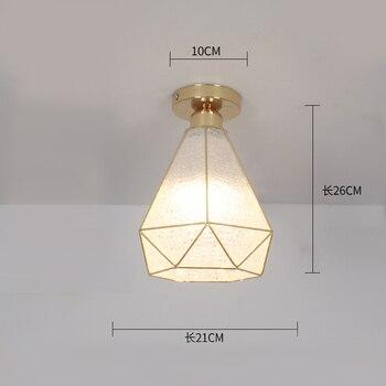 Ceiling lights Minimalist Retro Ceiling Lamp Glass E27 industrial decor  lamps for living room Home Lighting Lustre Luminaria 11