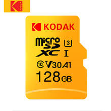 Kodak-tarjeta Micro SD Original de alta velocidad, 32GB, 64GB, 128GB, 256GB, Clase 10, U3, 4K, tarjeta flash