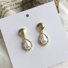 Temperament of restoring ancient ways of fashion earrings sweet lady contracted pearl earrings jewelry accessories
