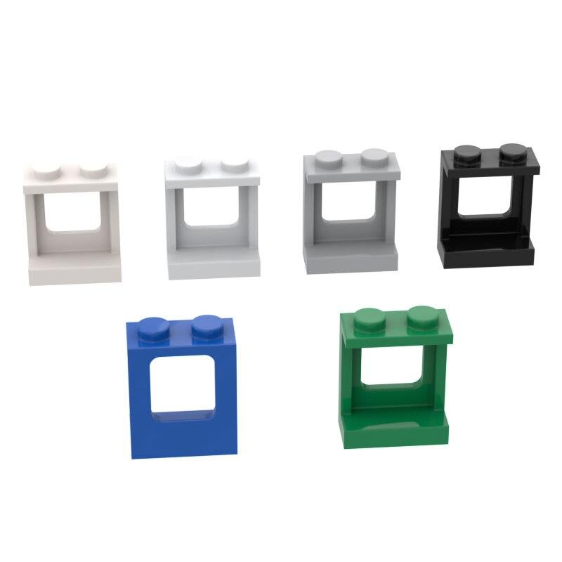 Buildmoc, кирпичи 2377, 1x2x2 коробка, стена для строительных блоков, детали «сделай сам», строительство, рождественские подарочные игрушки