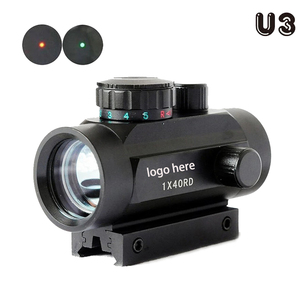 U3 New Holographic 1x40 Red Dot Sight Airsoft Red Green Cross Sight Scope Hunting Scope 11mm 20mm Rail Mount Collimator Sight