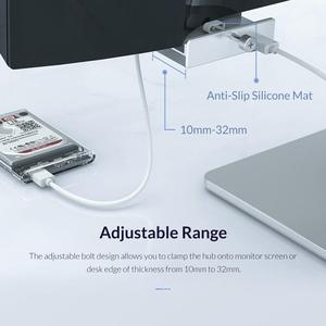 Image 4 - ORICO קליפ סוג USB3.0 רכזת אלומיניום חיצוני רב 4 יציאות USB ספליטר מתאם למחשב שולחני מחשב אביזרי (MH4PU)