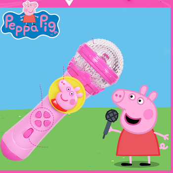Children Microphone Toys Cute Cartoon Peppa Pig Wireless Musical Instrument Kids Karaoke Funny Lighting Microphone Toy Kids Gift