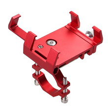 Bracket Aluminum Alloy Bicycle Mount Easy Install Universal Practical Decorative Cycling Anti Slip Phone Holder Clip Rotatable