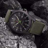 Outdoor Männer Uhren Wasserdicht Datum Edelstahl Militär Sport Uhr Analog Quarz Armbanduhr Nylon Strap 2021