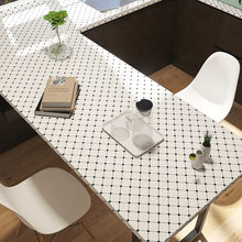 Black And White Lattice Kitchen Self-adhesive Wallpaper Waterproof And Oil-proof Wall Sticker Stove Tile Wallpaper