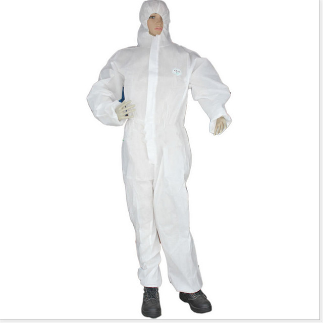 Disposable Coverall Hazmat PPE Suit Dust free Factory Workshop Protective Clothing Hospital Health Protection Safety Clothing 5