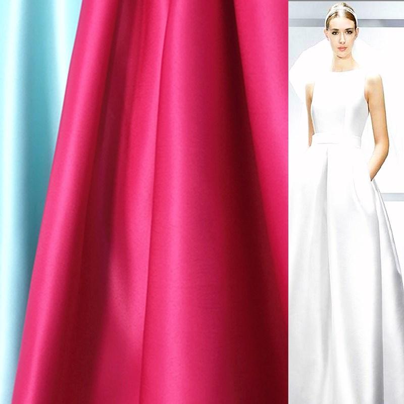 Плотная свадебная ткань, тяжелая атласная высококачественная ткань для свадебного платья, Тайваньская ткань для свадебного платья, ширина ...