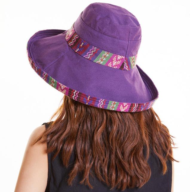Sombrero con forma de cubo para mujer de algodón transpirable
