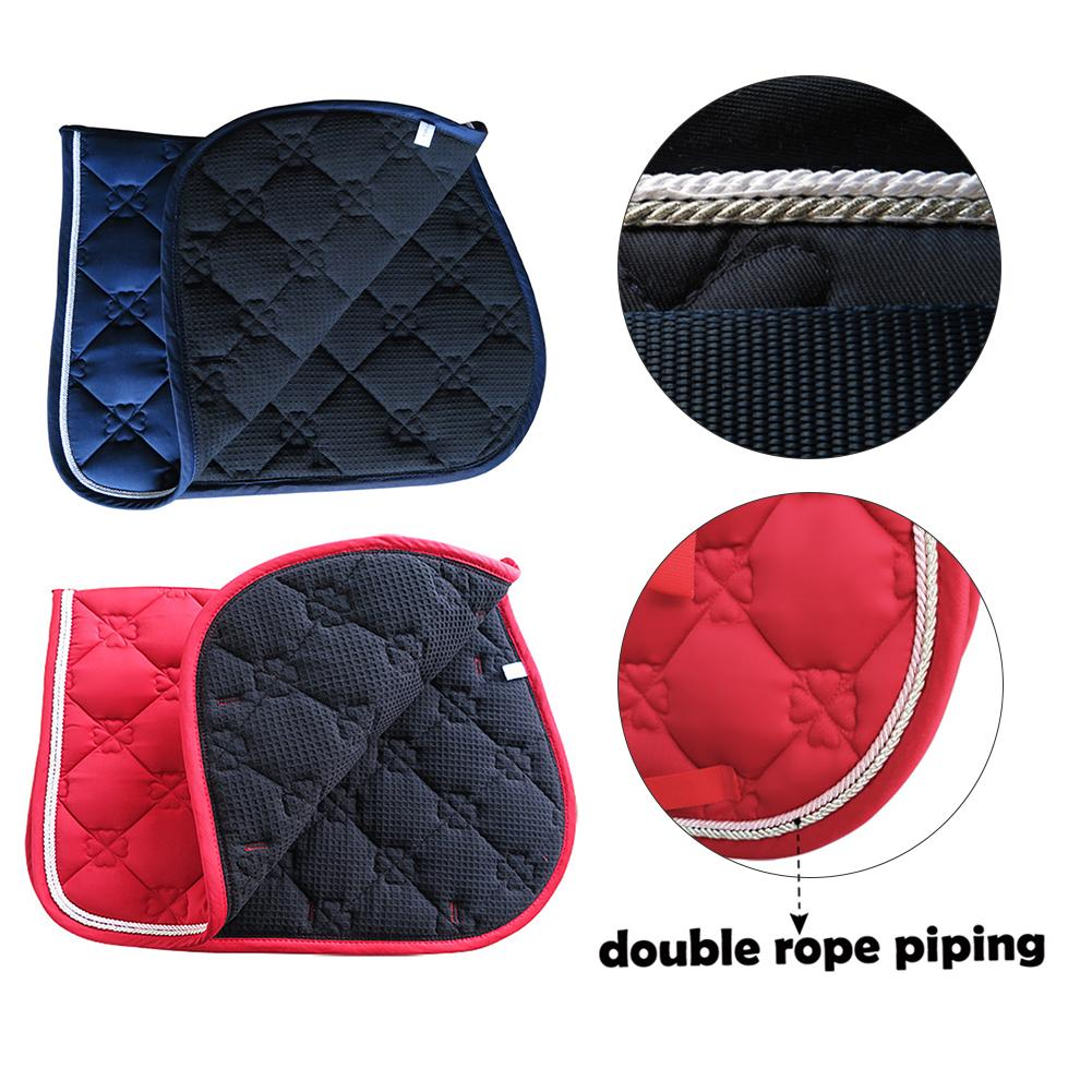Horse Saddle Pad Breathable Sweat-absorbent Equestrian Bareback Riding Pad Horse Riding Pad Horse Riding Jumping Performance Equ