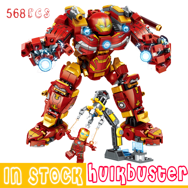 Marvel Iron Man Hulkbuster Building Blocks Super Heroes The Avengers Infinity War Superheroes Hulk Children Kids Toys Gifts