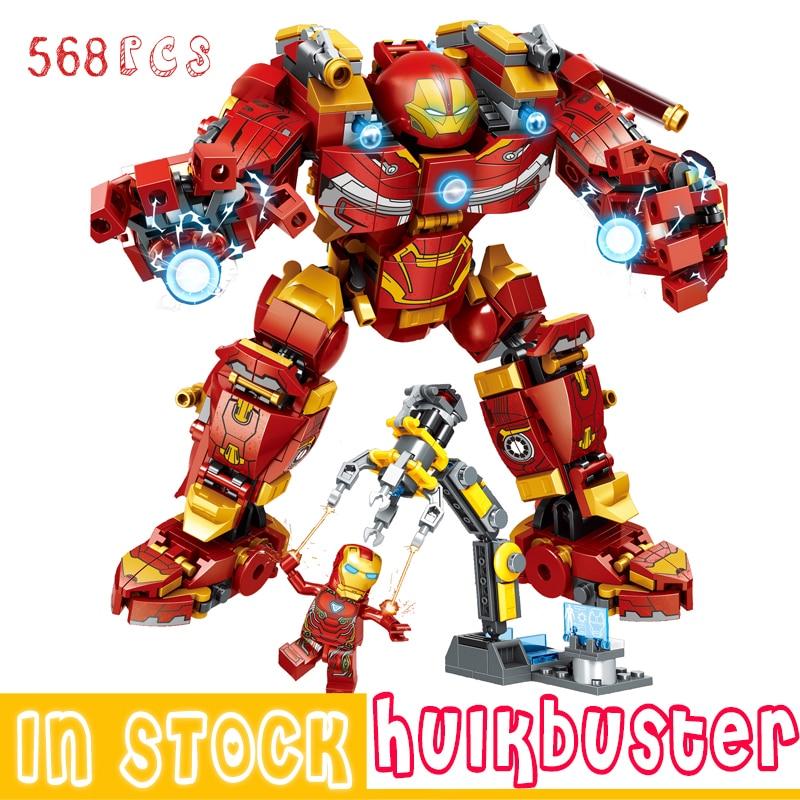 Marvel Iron Man Hulkbuster Building Blocks Super Heroes The Avengers Infinity War Superheroes Hulk Children Kids Toys Gifts