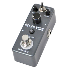 Rowin LEF-3800 Digital Reverb Pedal Guitar Ocean Verb Pedals Room Spring Shimmer 3 Modes Wide Range With Storage Of Timbre Pedal mooer spark reverb pedal three great sounding reverb modes guitar pedal