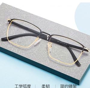 Image 2 - אופנה עסקים לגברים ונשים משקפיים סגסוגת מתכת מסגרת משקפיים עם מתכון מרשם Opticals
