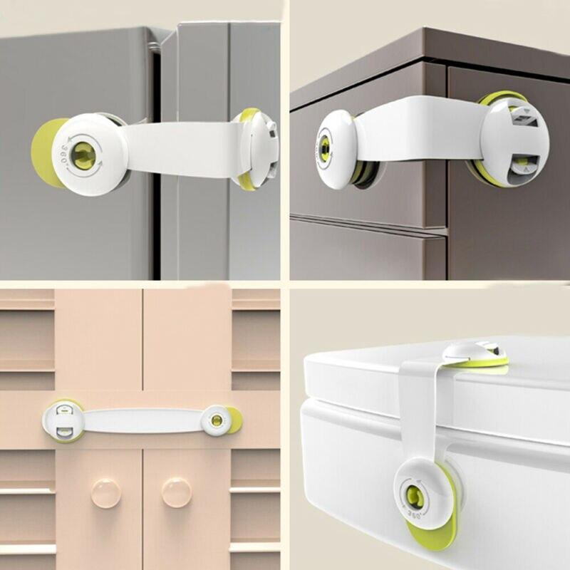 Baby Safety Lock Latch For Drawer Kitchen Cupboard Machine Fridge Toilet Fridge Freezer Door Lock Baby Cabinet Locks