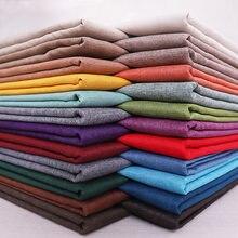 Matériel de tapisserie d'ameublement de tissu de lin pour la couverture de coussin de couture de broderies de rideau de Sofa