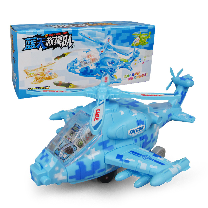 Electric Helicopter Airplane Shining Music Universal Airplane Electric Toys Wholesale Stall Night Market Best Seller Toy
