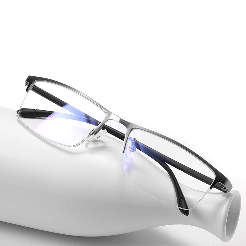 Half Rimless Optical Eyeglasses Frame for Men Medical Prescription Glasses Frame Eyewear Spectacles 1907 image