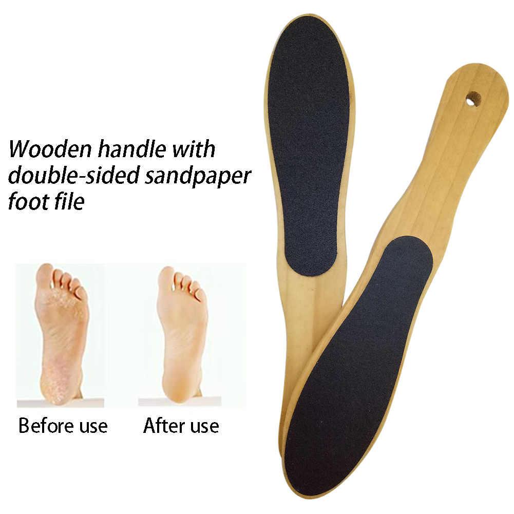 Crochet humide ou sec professionnel dans la douche utiliser pied fichier pieds soins double face callosités décapant bois pédicure