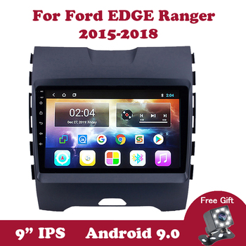 Android 9.0 Auto Multimedia Video Player for Ford EDGE ranger 2015 2016 2017 2018 IPS Car DVD GPS Navigation Radio BT bose FM SW image