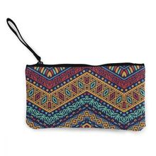 NOISYDESIGNS Colorful Tribal Ethnic Floral Flower Canvas Zipper Pencil Cases Lovely Pen Bags School Supplies Custom Coin Purse