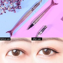 Novel Fish Shape Eyeliner Waterproof Sweat-proof Non-staining Non-decolorizing Long-lasting Soft Head Black Pen