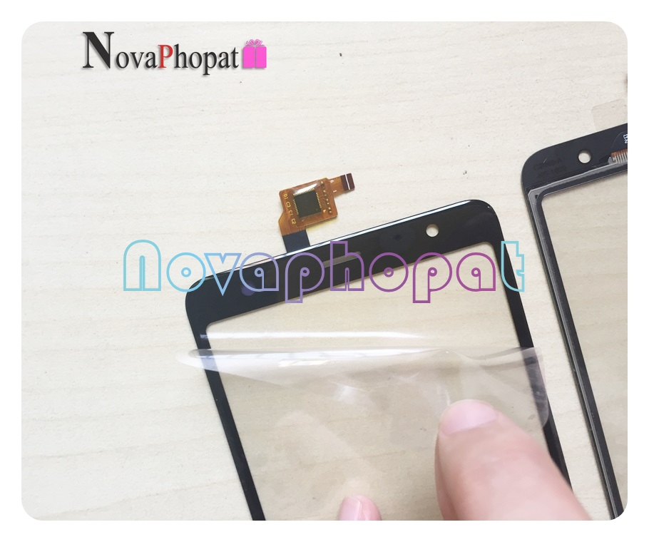 Novaphopat Black Touchscreen For <font><b>BQ</b></font> <font><b>BQ</b></font>-5510 Strike Power Max 4G BQS-5510 5594 / <font><b>BQ</b></font> <font><b>6010G</b></font> Practic Touch Screen Digitizer +track image