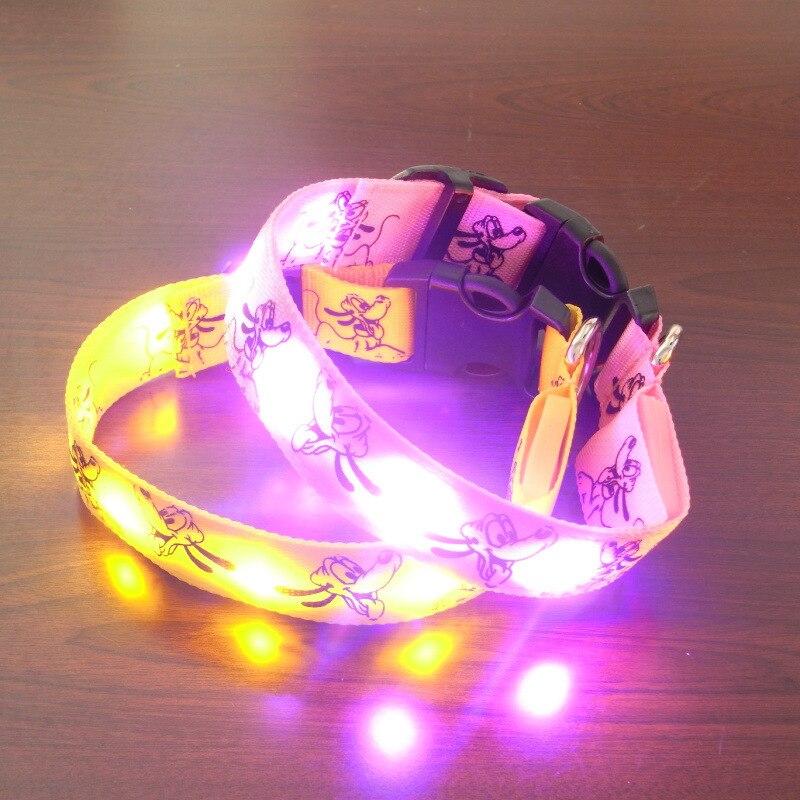 Pluto Light Belt Strip Neck Ring Shiny Dog Collar | Flash Neck Ring | Night Light Bite-proof Protector | Fluorescent Item