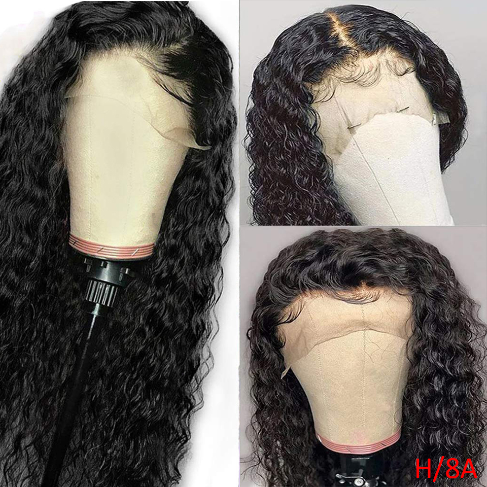 BINF Hair Indian Deep Wave Human Hair Wigs 13X4 Lace Frontal Wig With Baby Hair Pre-Plucked Remy Hair 150% Density For Women