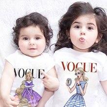 Забавные повседневные футболки с героями мультфильмов для мальчиков модные рубашки принцессы с принтом богини для малышей футболки для девочек с круглым вырезом Kawaii Harajuku Cute