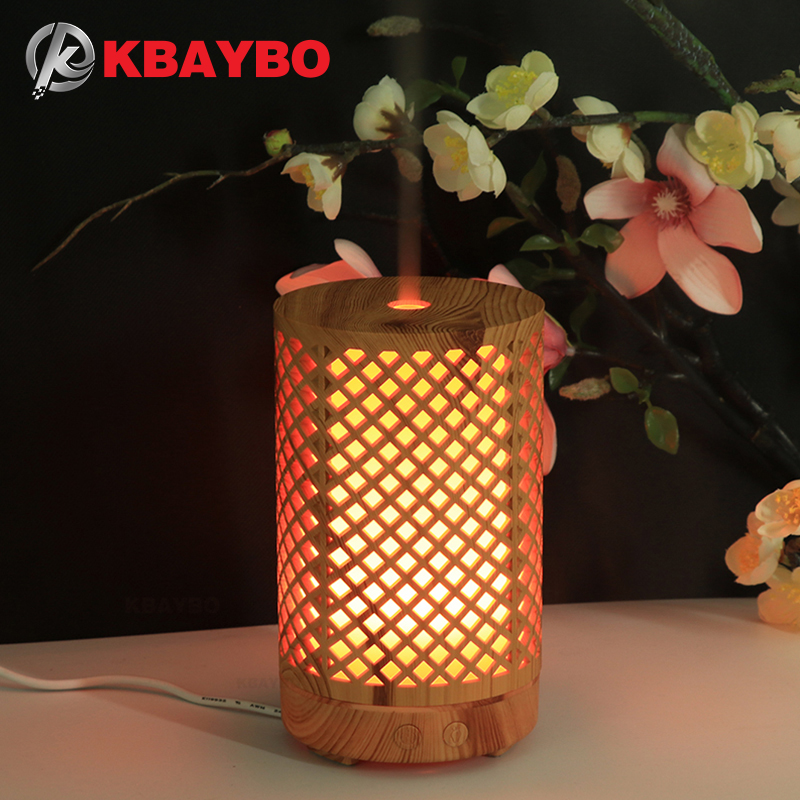 KBAYBO 100ml Electric Aroma Diffuser Wood Ultrasonic Air Humidifier Aromatherapy Cool Mist Maker colorful night light For Home|Humidifiers| |  - title=