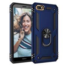 Dla Huawei Honor 7A Case odporny na wstrząsy wojskowy pancerz spadek ochronna twarda pokrywa dla Huawei Honor 7A Dua-L22 #8230 tanie tanio kindamart CN (pochodzenie) Fitted Case honor 7a case honor 7a cover Plastic Rubber Case with Metal Ring Bracket Case for Magnetic Phone Car Holder