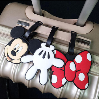 Cartoon Animal Prints Luggage Tag Silica Gel Travel Accessories Portable Label Suitcase ID Address Holder Women Baggage Boarding цена 2017