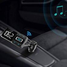 Двойной USB Bluetooth fm-передатчик MP3 плеер автомобильное быстрое зарядное устройство 2.4A ток TF карта громкой связи полный однокнопочный сабвуфер