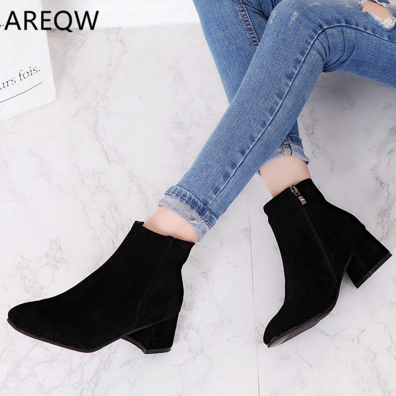 2020 Women Ankle Boots Shoes Woman Zip Boots Sexy High Heels Ankle Boots Female Shoes Booties