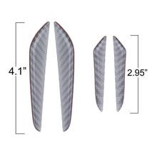 цена на 4pcs Universal Carbon Fiber Car Door Side Edge Guard Protection Trim Stickers