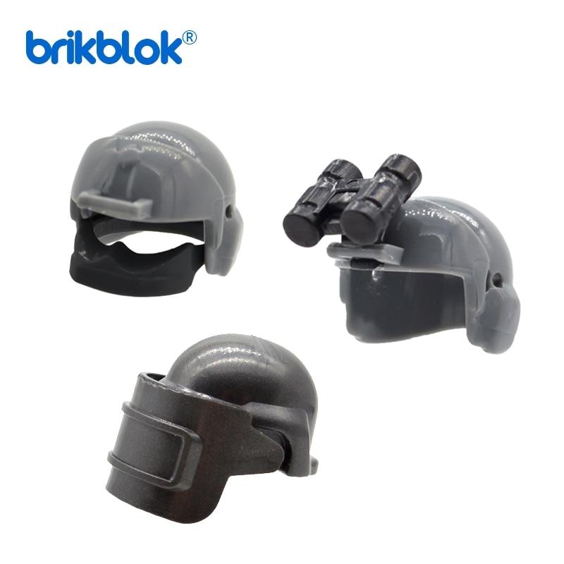 10 шт./лот MOC военные разведывательные шлемы с телескопическими блоками пластиковые детали строительные блоки игрушки для детей