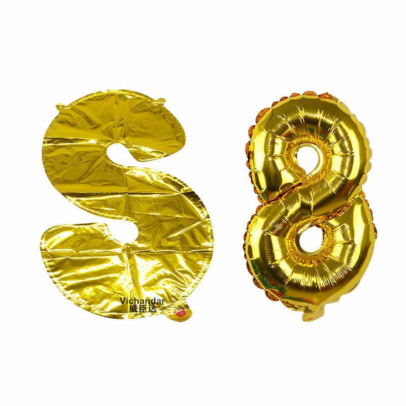 Figura balão folha 32 polegada anos de hélio balões número feliz 18 aniversário balão de ar suporte festa decoração balões globos