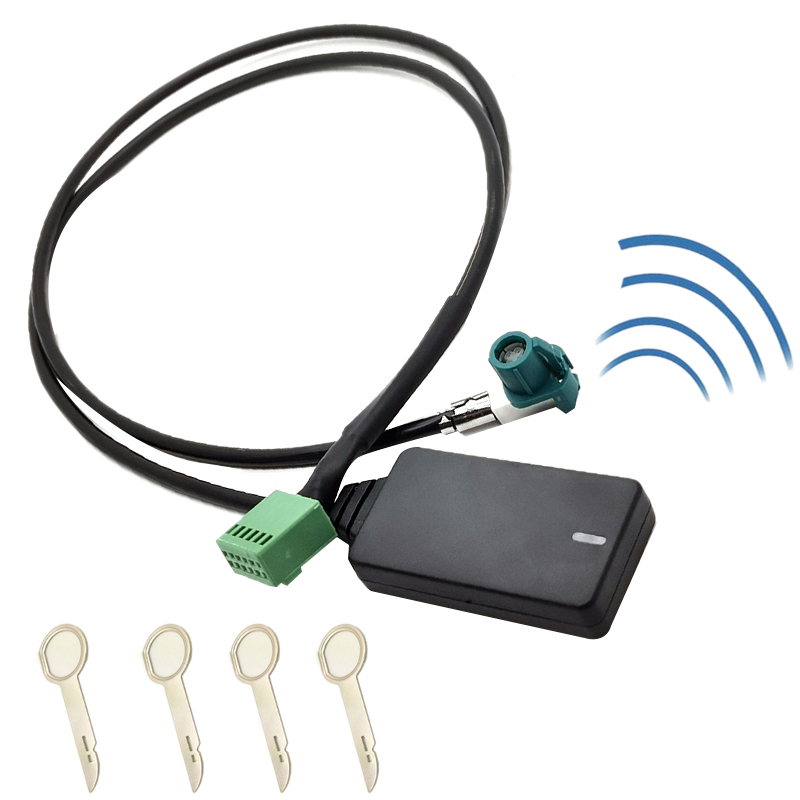 12 Pin <font><b>12V</b></font> Car Wireless <font><b>AUX</b></font> <font><b>Bluetooth</b></font> 5.0 <font><b>Adapter</b></font> Hands Free Auto <font><b>Bluetooth</b></font> Car Kit Audio Cable for Audi A3 A4 B8 B6 A6 C6 B7 C6 image